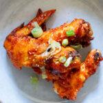 gochujang air fryer chicken wings