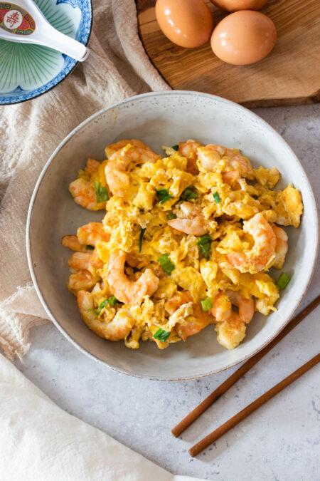 shrimp egg stir-fry