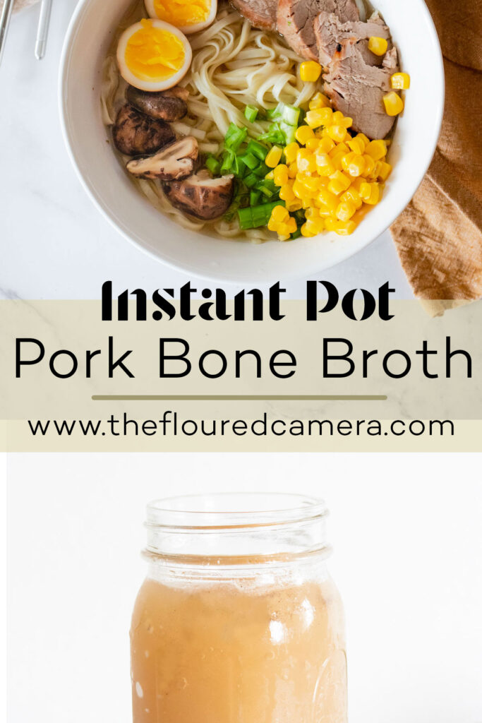 pork bone broth and ramen