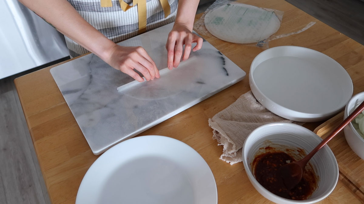 rolling rice paper
